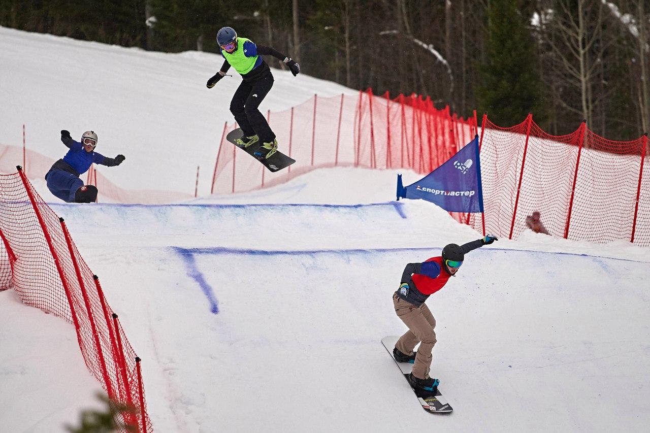 `Открытое первенство сноуборд кросс