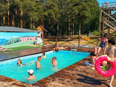 Зона отдыха с бассейном не работает 26 августа!